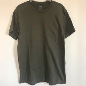 Levi's Olive Green Pocket T-Shirt